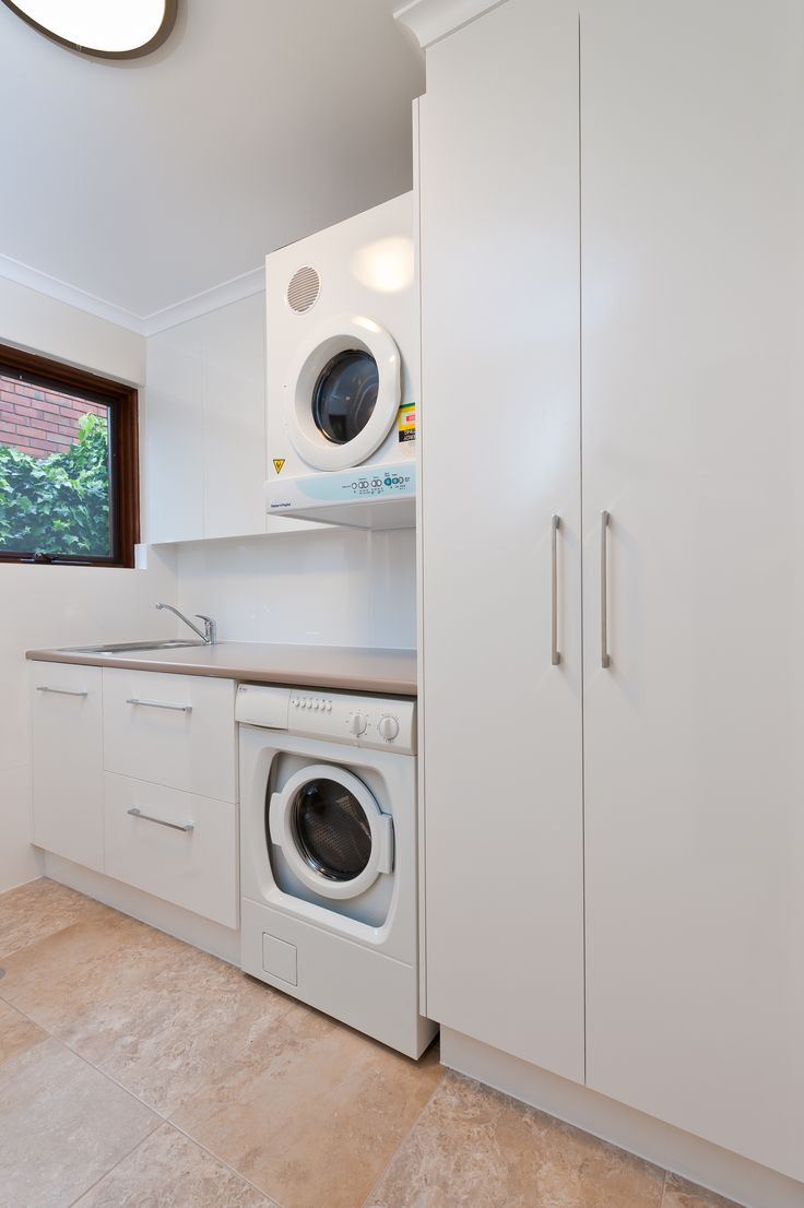 Neutral and sophisticated laundry design for everyday use #brilliantsa #laundry #renovation #simple