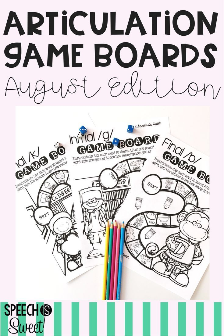 August Articulation Game Boards Feature School Themed Speech Therapy Games They Re No Prep Enga Articulation Games Speech Therapy Games School Speech Therapy