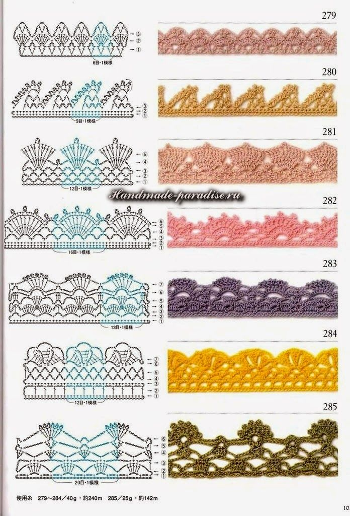 Схемы мотивов для пледа крючком - Handmade-Paradise