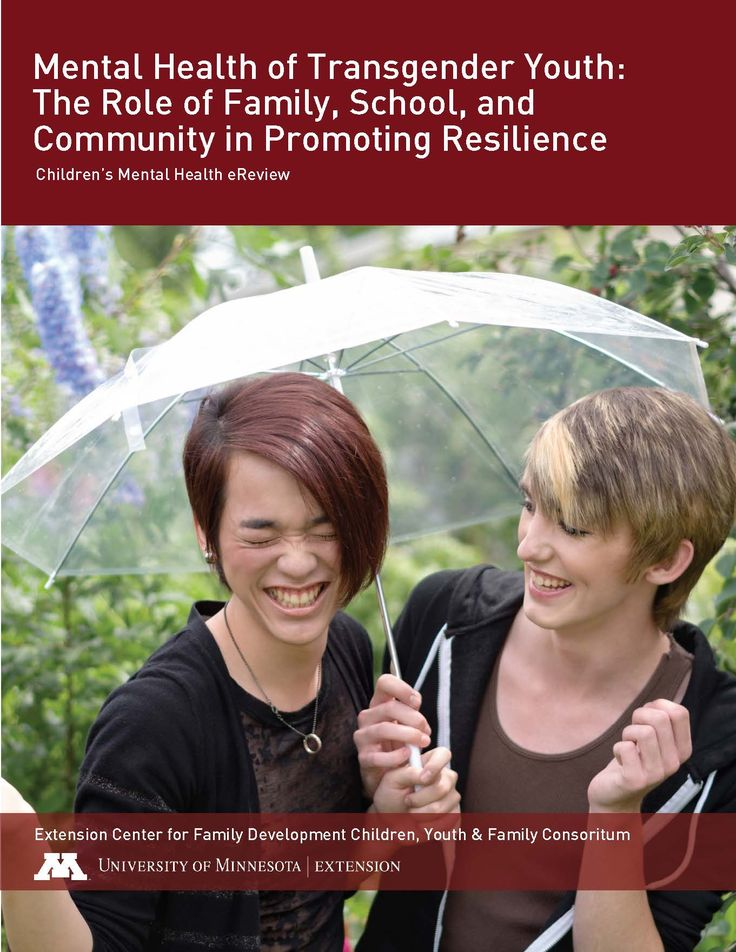 Learn about the mental health of transgender youth, including the role of family, school and community in promoting resilience.