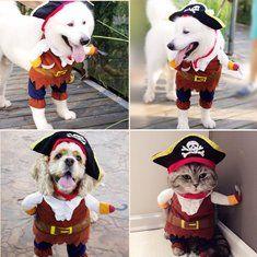 #Banggood Хэллоуин смешно кота собаки любимчика пират одежда костюм платья костюм костюм наряд Предметы одежды S-XL (1089928) #SuperDeals