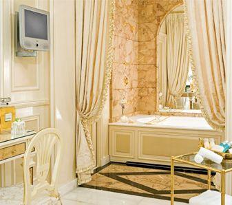 The Imperial Suite bathroom at the Ritz Paris  Puttin on