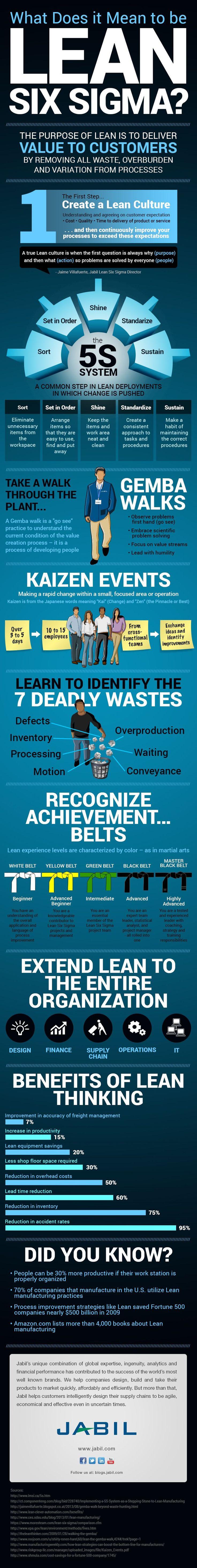 Lean Six Sigma Infographic | Jabil Blog: Aim Higher