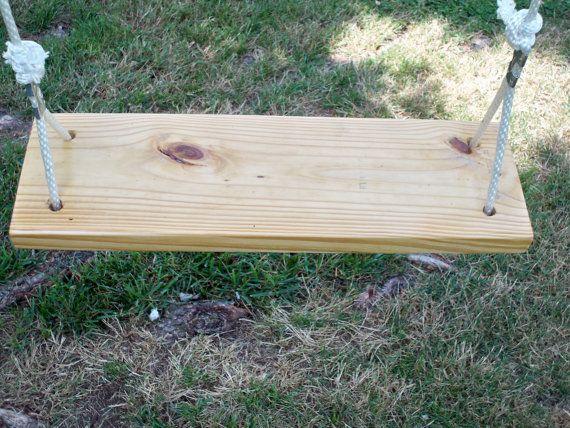 Outside swing seat  Ol' Fashion wooden swing by RobinsonWoodPicks, $35.00