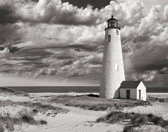 Lighthouse Photo Print, Nantucket Photography, Great Point Lighthouse, Cottage Decor, Beach Style Prints, Housewarming Gift 1969