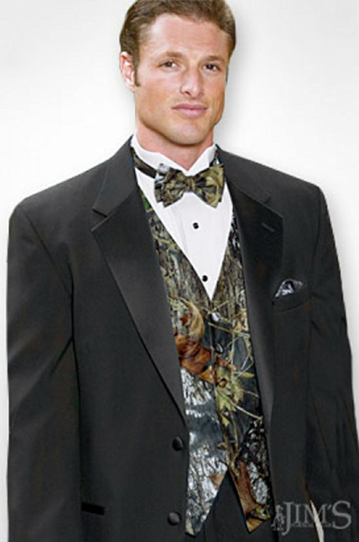 Looking for the perfect wedding tuxedo accessories to complete your camouflage wedding today for this mossy oak bow tie from jim s formal wear