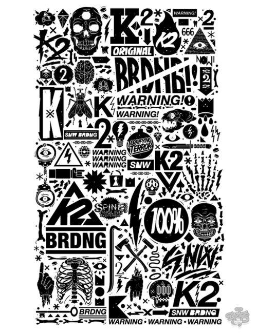 Poster: Design Inspiration, K2 Snowboards, Vandal 12 13, Typography Posters, 1213, Posters Design, Digital Art, Graphics Design, Behance Network