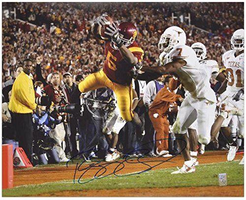 """Reggie Bush USC Trojans Autographed 16"""" x 20"""" The Dive vs. Texas Longhorns Photograph - Fanatics Authentic Certified"""