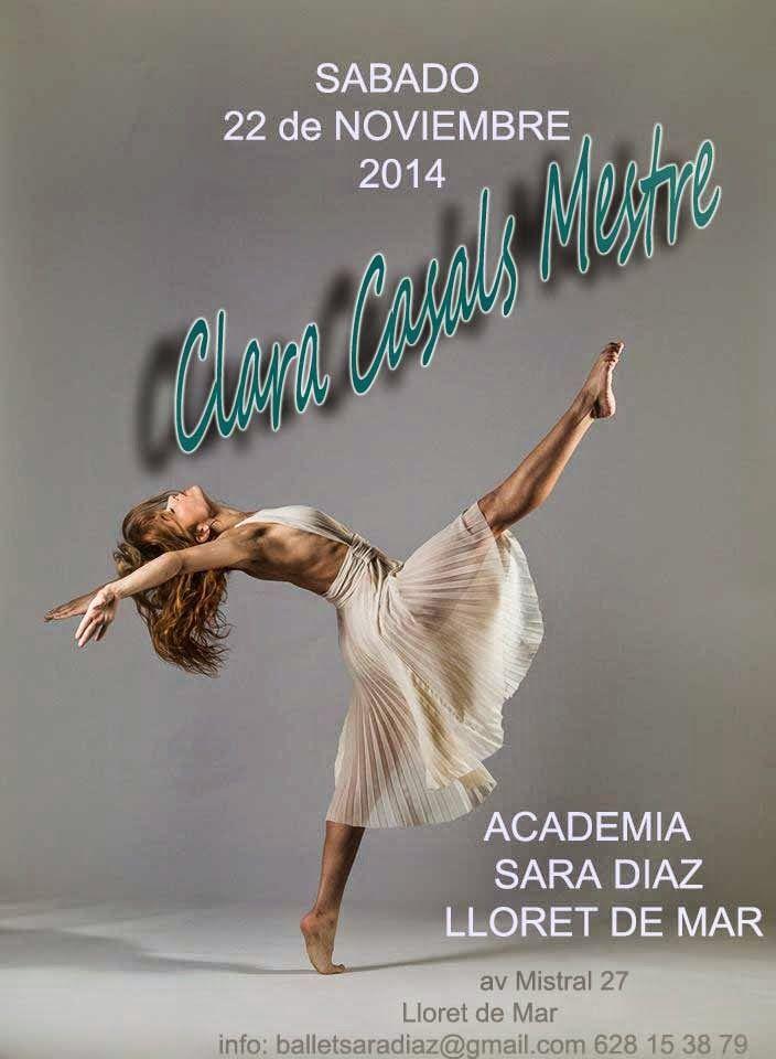 Escuela Ballet Lloret de Mar: sabado 22 de noviembre -masterclass con Clara Casals