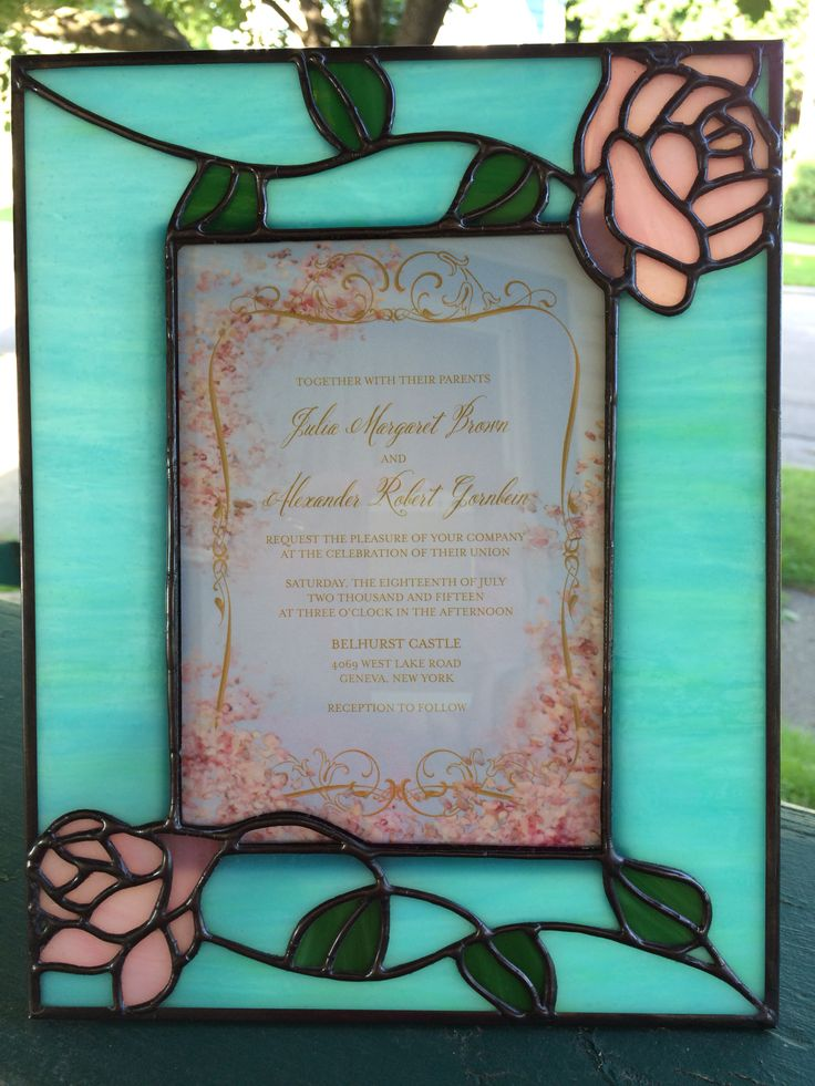 Wedding invitation in photo frame