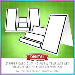 Stepper Card Cutting File & Printable Template Set