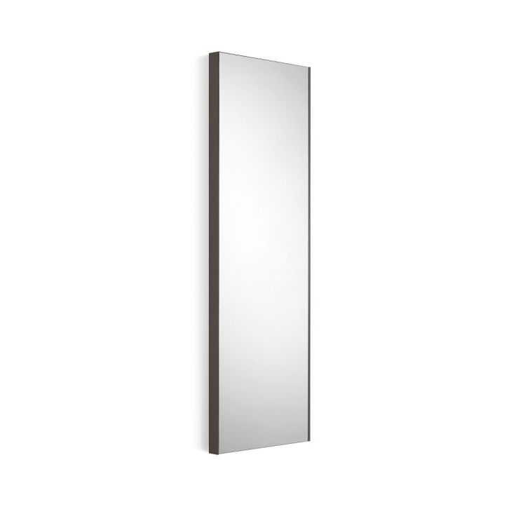 "WS Bath Collections Speci 5673 12-3/4"" x 39-1/4"" Rectangular Wall Mounted Framed Mirrored Glass / Dark Grey Frame Home Decor Mirrors Plumbing"