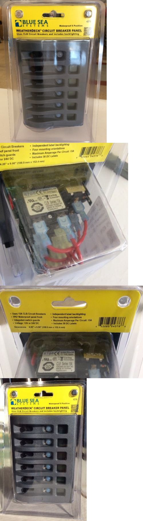 boat parts: New Blue Sea Electric Switch Panel Power Distribution 12V 6-Gang Waterproof 4376 -> BUY IT NOW ONLY: $119.95 on eBay!