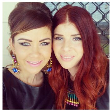 Brooke Kitching wearing her Alaska earrings and Brooke DiSilvia wearing her Dante necklace. Gorgeous!