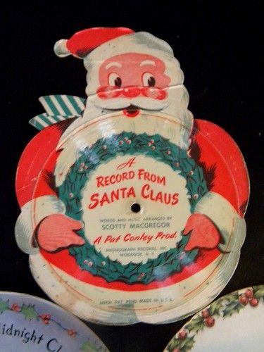 1940's Santa Christmas Picture Photo Record