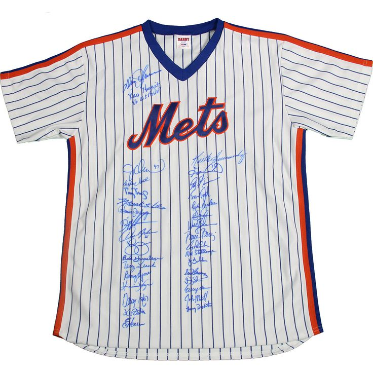1986 New York Mets Team Signed Jersey w/ Gary Carter (33 Signature)(PSA/DNA Holo Only)