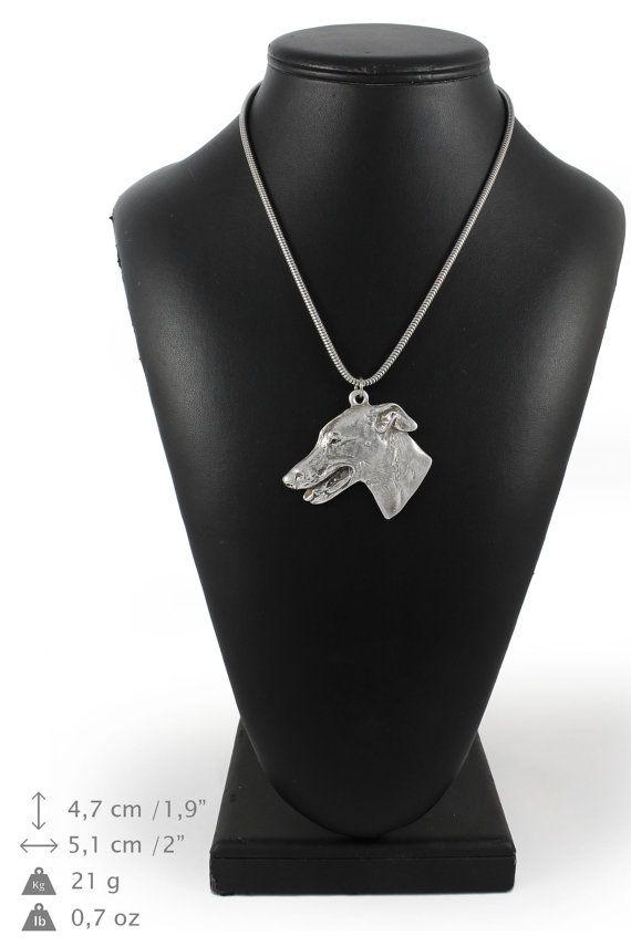 NEW Grey Hound  English Greyhound dog necklace by ArtDogshopcenter