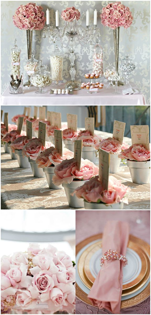 Wedding  Reception Décor Pink