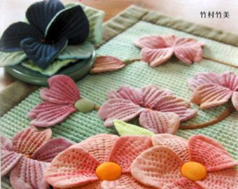 Floral Patchworks and Appliques Japanese Craft by pomadour24