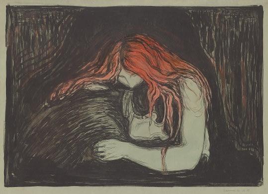 The Vampire (Vampyr), 1895. Edvard Munch.