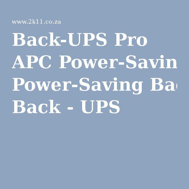 Back-UPS Pro APC Power-Saving Back - UPS