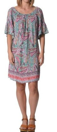 Multi Colour Boho Dress  $19  size lrg