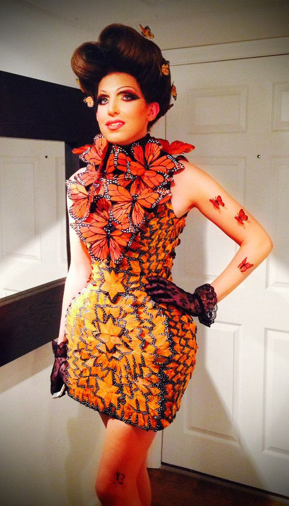 capitol couture effie trinket mcqueen butterfly dress. Black Bedroom Furniture Sets. Home Design Ideas
