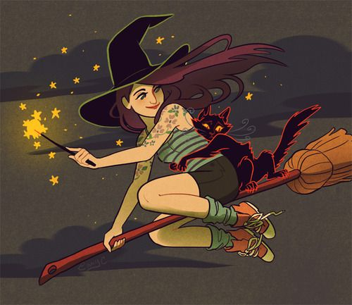 Fashionable witch--- so inspiring!