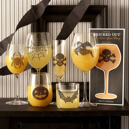 Glass Bling....These removable drinkware decals will spruce up your bar essentials in no time