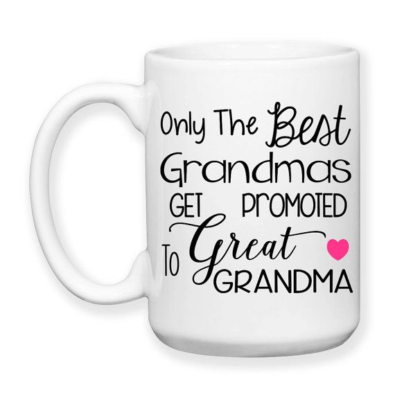Only The Best Grandmas Get Promoted To Great Grandma, Baby Announcement, Great Grandma Mug, Great Grandma Gift, Pregnancy Reveal, Great Granddaughter, Great Grandson, Great Grandchild - 15 oz Coffee Mug, or Tea Mug, Dishwasher Safe / Microwave Safe    ★★★★★★★★★★★★★★★★★★★★★★★★★★★★★★★★★★★★★★★★★★★    This mug design is professionally created and inked in FL. USA.    Each item is made after receiving an order, and due to the hand made and custom designed nature the items can vary slightly from…