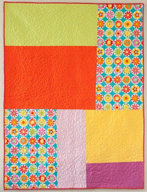 Little Bluebell: Finished Quilt: Skittles