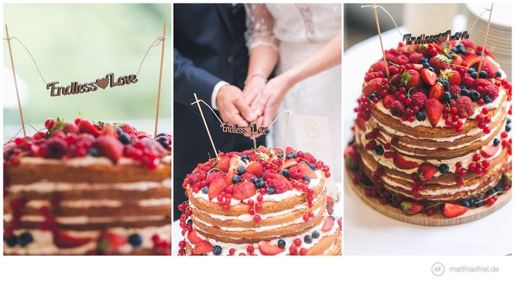 Delicious naked cake with berries... strawberries, blueberries, raspberries,..... :) hochzeit-diy-vintage-ratzeburg-waldhof-moelln-matthias-friel