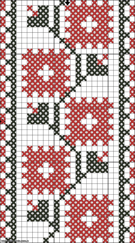 схема вышивка крестом зимний рождественский ангел