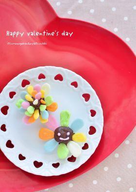 「【バレンタイン】カラフルお花のトリュフ」ぶーちん | お菓子・パンのレシピや作り方【corecle*コレクル】
