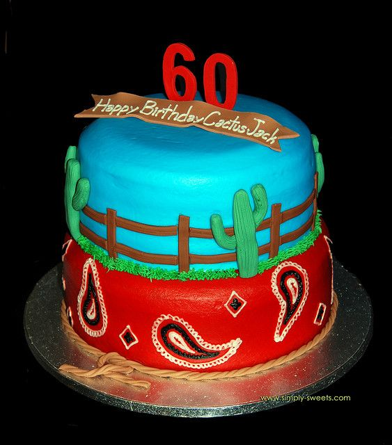 Western themed 60th Birthday Cake by Simply Sweets, via Flickr