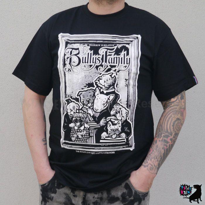 Bull Terrier The Bullys Family hand print T-shirt by PSIAKREW on Etsy