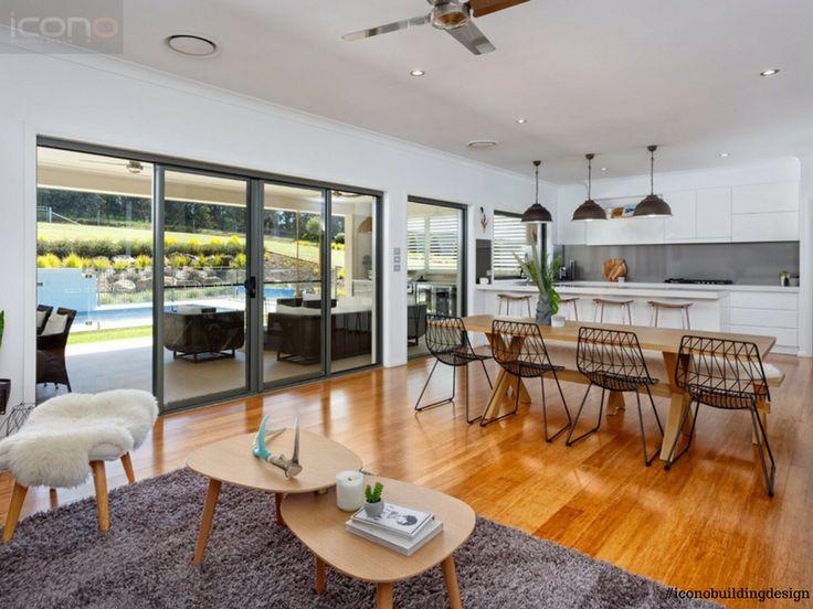 Open plan kitchen and living area. #iconobuildingdesign #openplan #kitchen #livingroom #indoor #outdoor #homedecor #diningroom  #australian #fa#family #home
