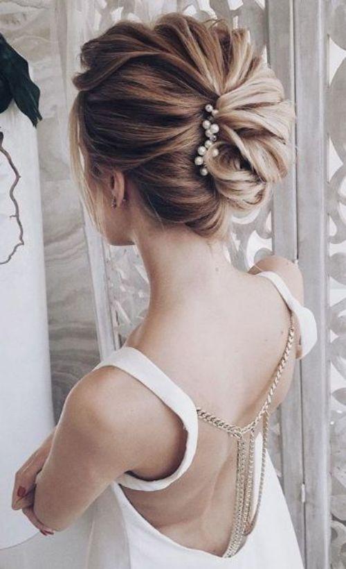 Coiffure Mariage Cheveux Mi Longs Chignon Latéral Details