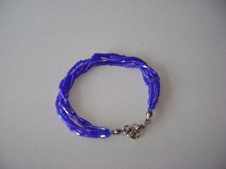 bracelet with blue beads
