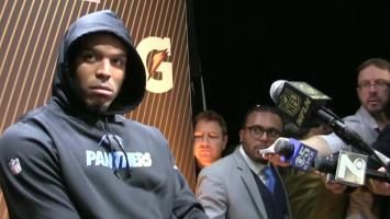 The real reason Cam Newton walked out on Super Bowl interview