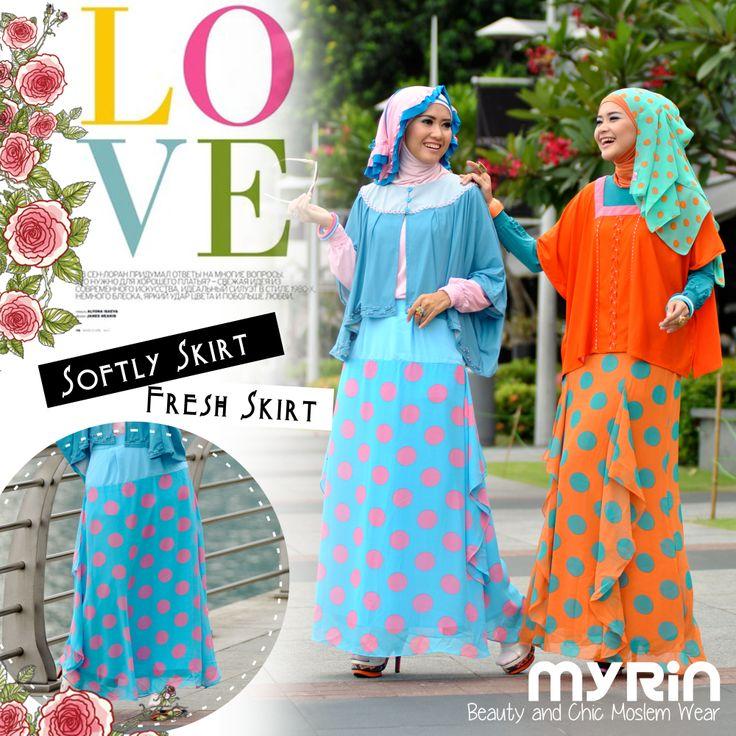 Happy Polka :) Softly skirt (blue) and Fresh Skirt (orange) only 315.000 each.