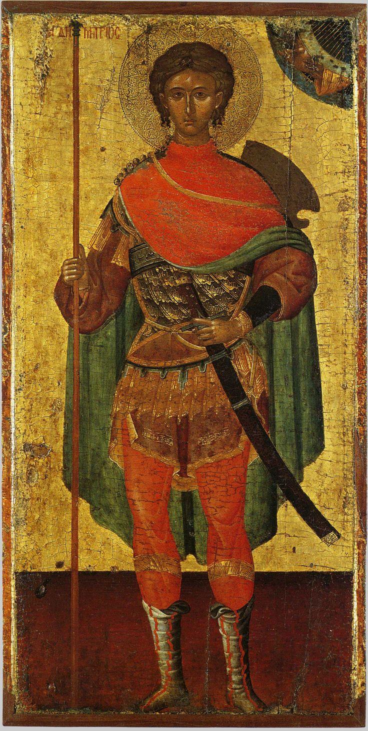0059.jpg (1428×2838) Димитрий Солунский, св. вмч.; XV в.; Греция. - православные…