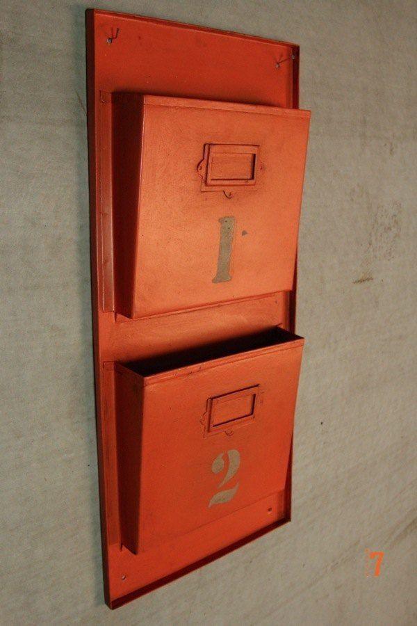 Porte revues industriel orange - meuble industriel