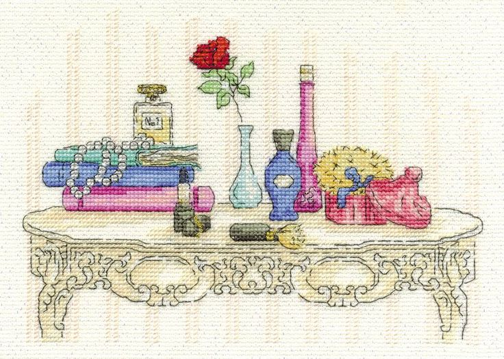Beauty Cross Stitch Kit, Designed by Maria Diaz - £18.20 on Past Impressions | From DMC