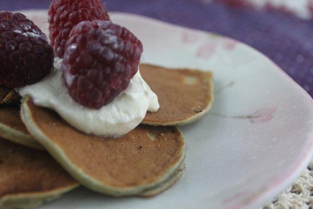 Blueberry Coconut Pancakes (Coconut Flour, Grain Free, Paleo, Nut Free, Dairy Free)