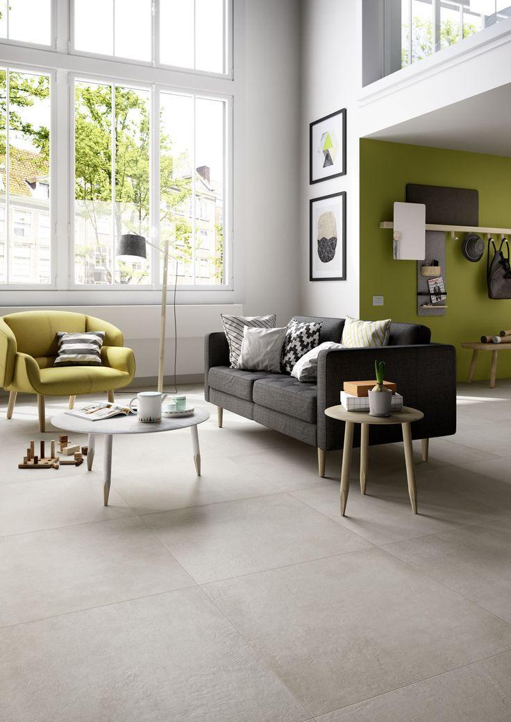 Marazzi Fliesen Konnen Verwendet Werden Um Moderne Wohnzimmer Betonopti Diy Wohnzimmer Carrelage Salon Decoration Salon Deco Maison