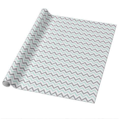 Green Chevron Baby Shower Wrapping Paper #chevron #craft #supplies