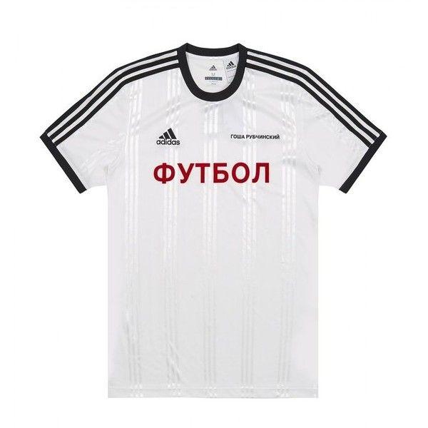 purchase cheap 37ace 22c9a GOSHA RUBCHINSKIY X ADIDAS JERSEY T-SHIRT (G011T101C) (155) ❤ liked on  Polyvore featuring tops, t-shirts, white t shirt, white jersey t shirt,  adidas t ...