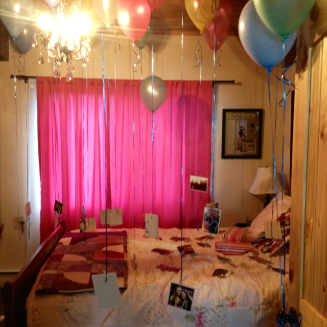 Surprised decorated my best friends bedroom for her for Bed decoration anniversary