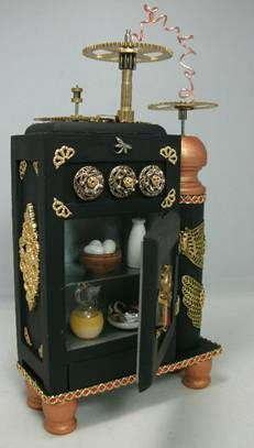 40 best images about dollhouse kitchen furniture on for Steampunk furniture diy